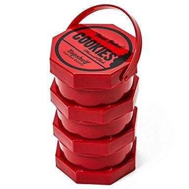 Cookies SF Harvest Club Red Storage Jar - 3 Part Stash Pot