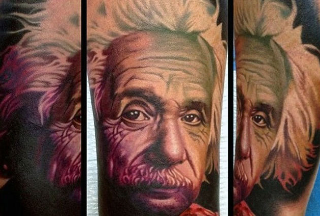 20 Tattoos Of The Theoretical Physicist Albert Einstein