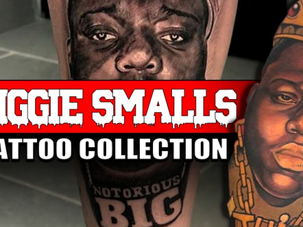 CHRISTOPHER WALLACE AKA BIGGIE SMALLS TATTOOS