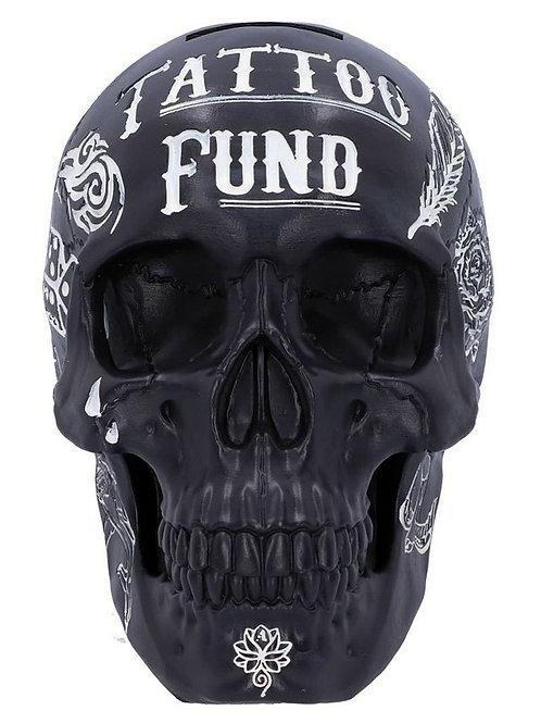Black Tribal Tattoo Fund Skull Money Box