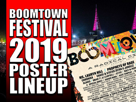 BOOMTOWN FESTIVAL POSTER LINEUP 2019