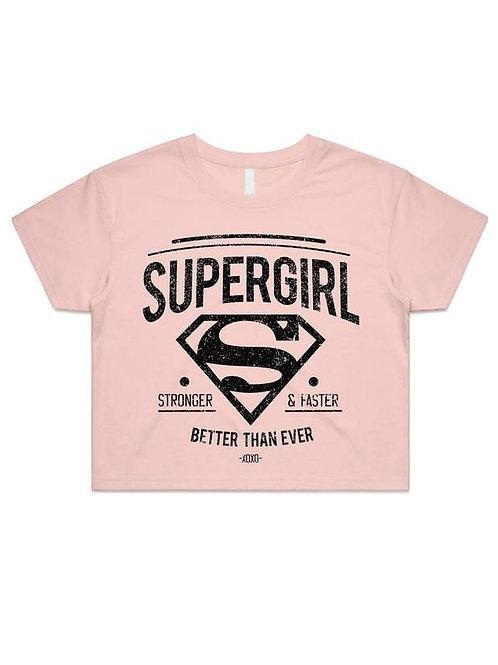 Supergirl | Stronger Faster Crop Top