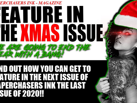 FEATURE IN THE PAPERCHASERS INK MAGAZINE XMAS ISSUE