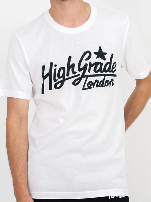 High Grade Text Logo T-Shirt - White