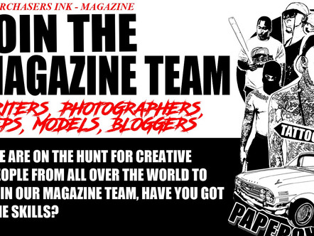 ARE YOU CREATIVE? JOIN THE PAPERCHASERS INK MAGAZINE TEAM