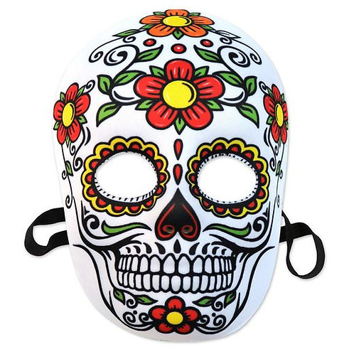Day Of The Dead Sugar Skull Mask - (Floral)