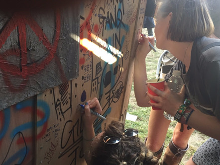 THOUSANDS SIGN OUR WALLS AT BOOMTOWN FESTIVAL