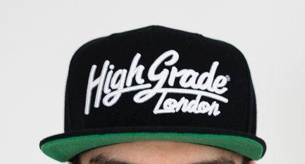 High Grade Text Logo Snapback - Black