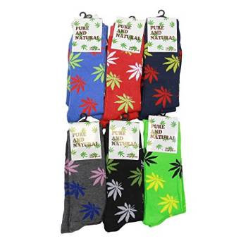 Cannabis Leaf Print socks