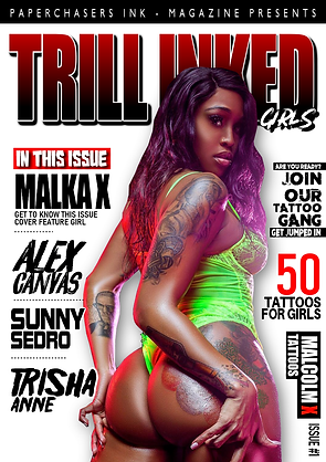 TRILL INKED GIRLS COVER, TATTOO MAGAZINE