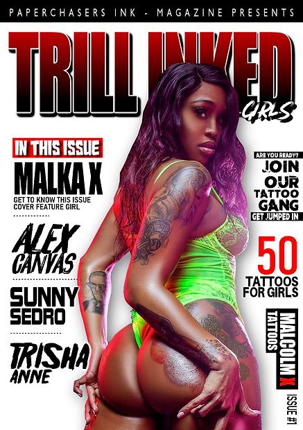 TRILL INKED GIRLS COVER, TATTOO MAGAZINE