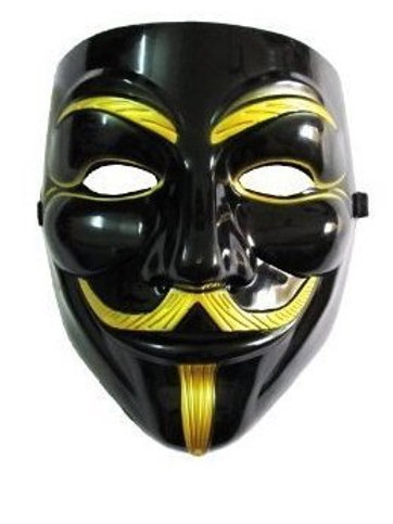 Anonymous Mask - Black/Gold