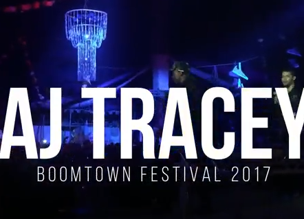 AJ TRACEY AT BOOMTOWN FESTIVAL