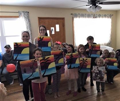 January painting party at Kyla Daly's ho