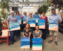 April 2019 acrylic painting party turbul