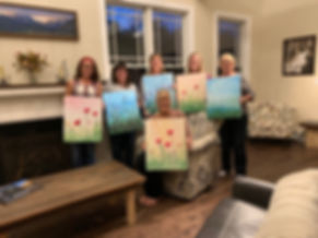 Leslie Hoal Acrylic Painting Party 2019