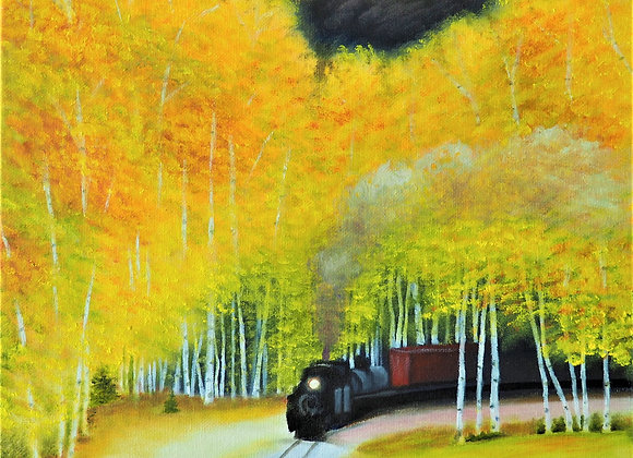 Train Through the Fall Trees