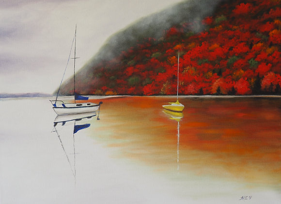 Sailboats in the Fall