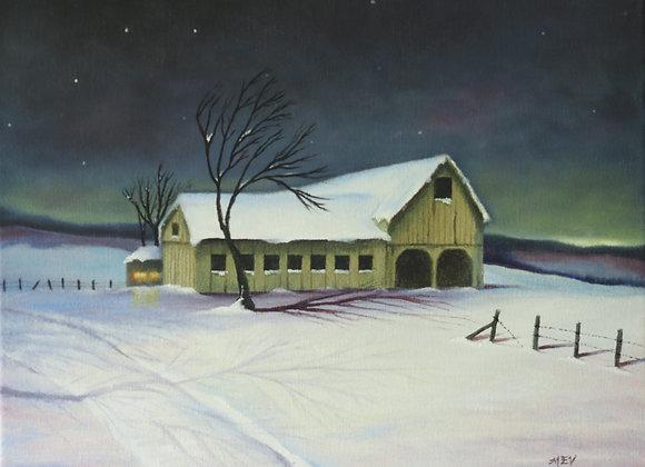 Bright Snow on a Dark Night