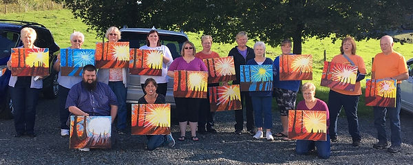 Acrylic painting party maureen Daley bet
