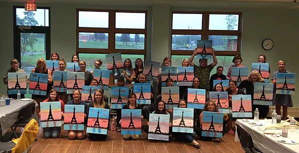2018 painting party library Donna Fassle