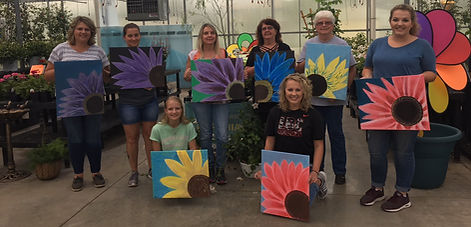 Flower Acrylic Painting Party 2018 Daisy