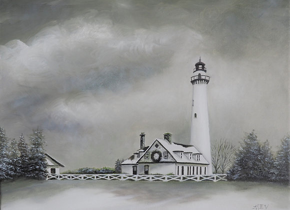 Lighthouse at Winter Time