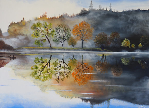 Reflections of Fall in the Mist