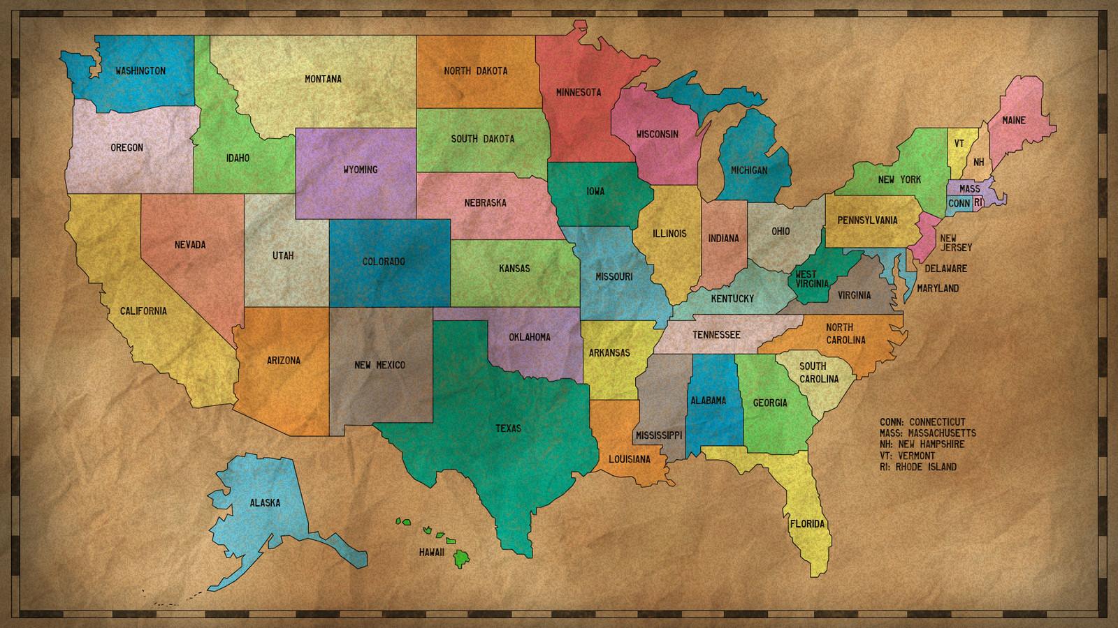 Yhdysvaltojen Kartta