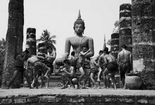 Old-Time-Muay-Thai-black-and-white-photo