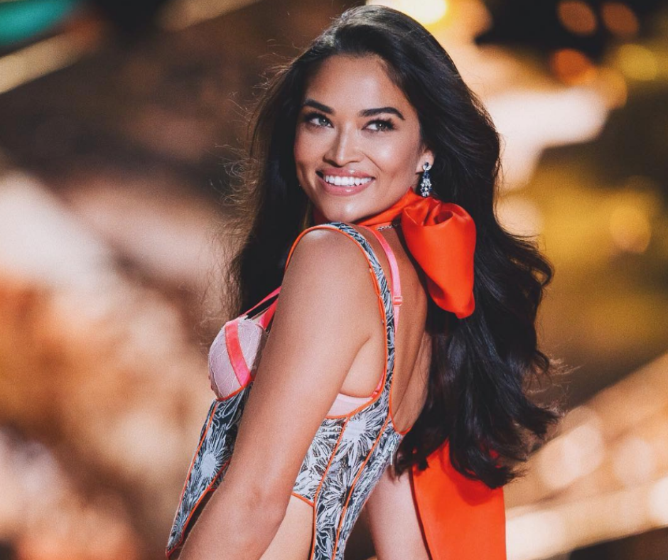Victoria Secret Model Shanina Shaik walking the runway at the Victoria's Secret Fashion Show