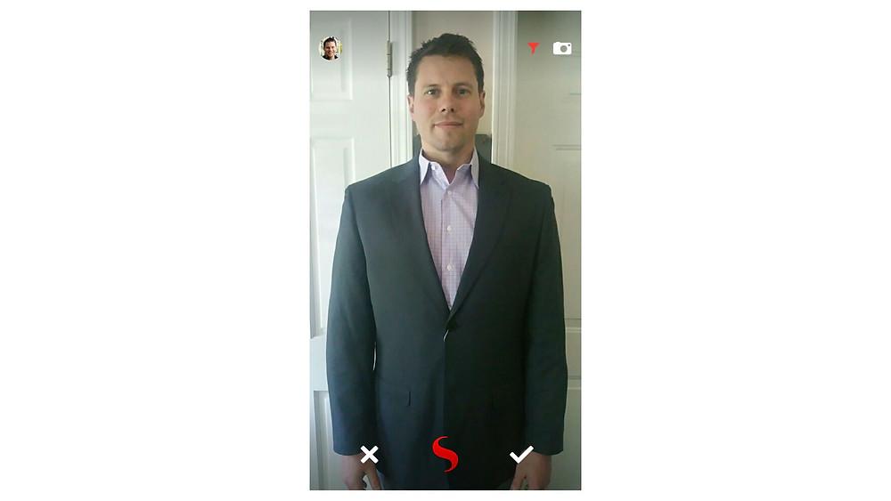 screenshot of groomsman on STYL app