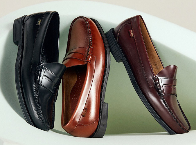 classic loafers in black and brown