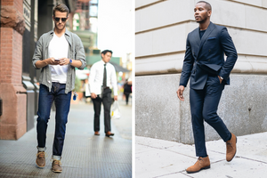 suede chukka dressed up and dressed down