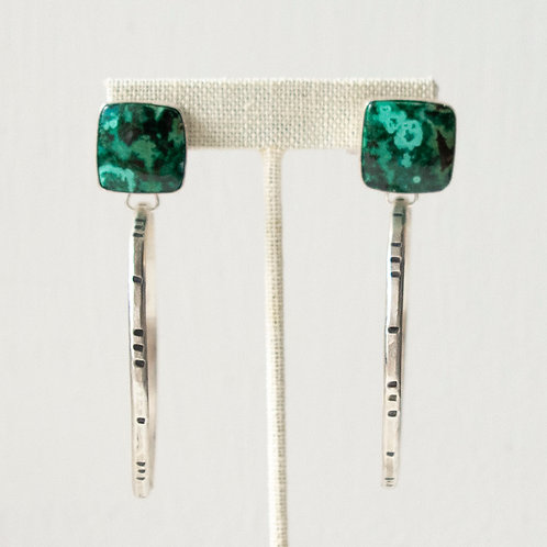 MORENCI MALACHITE TIMELINES HOOPS