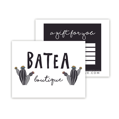 GIFT CARDS starting at