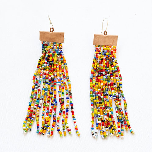 WOVEN BEAD EARRINGS BY WILLIES FORT