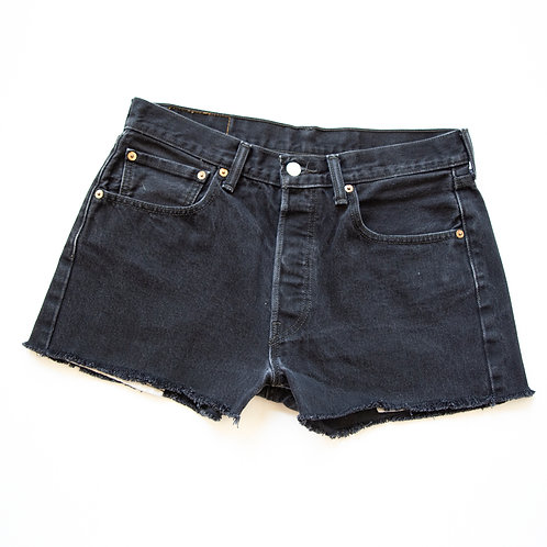 BLACK LEVIS 501 CUTOFFS 30 / 31