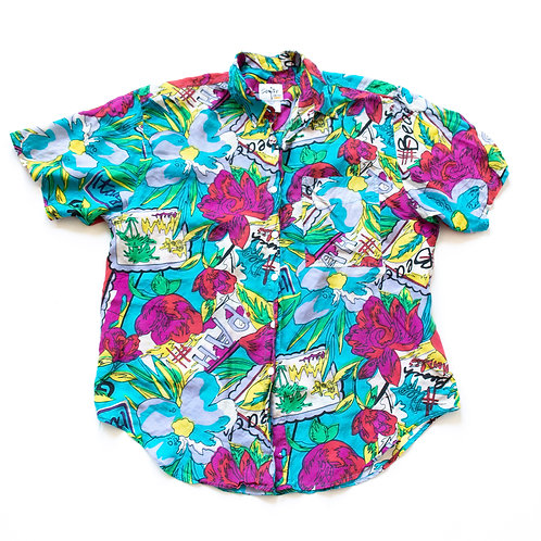 SILK EUROPEAN HAWAIIAN SHIRT