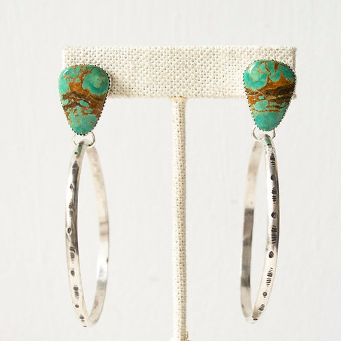 TYRONE TURQUOISE AGAVE HOOPS