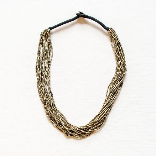 BEADED STATEMENT NECKLACE SMALL