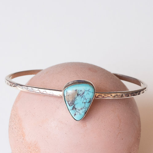 VINTAGE TURQUOISE STERLING CUFF