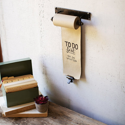 HANGING NOTE ROLL WITH BRASS CLIP 4IN