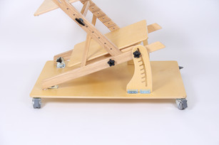 Extended base on casters with tilting chair option