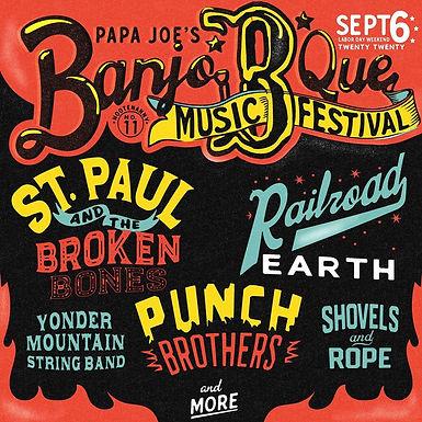 Papa Joe's Banjo B Que 2020 Logo