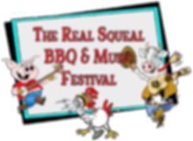 The Real Squeal BBQ & Music Festival Logo