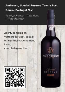 Andresen special Reserve Tawny port