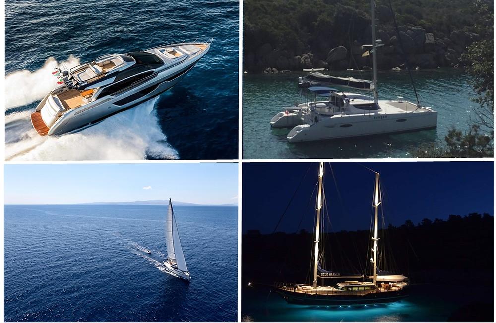 Yates, velero, goletas y catamaranes en Grecia