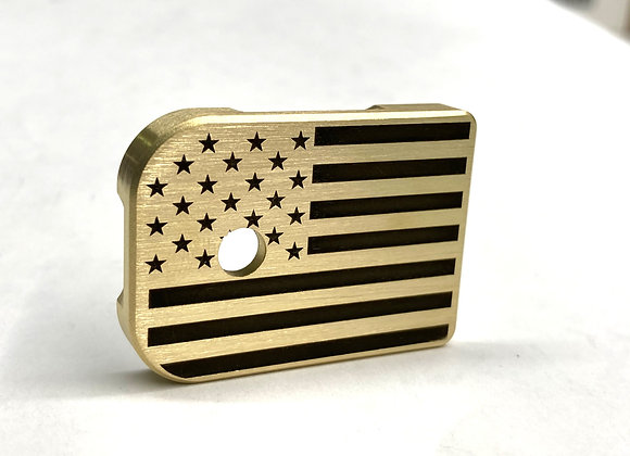American Flag Mag plate Brass