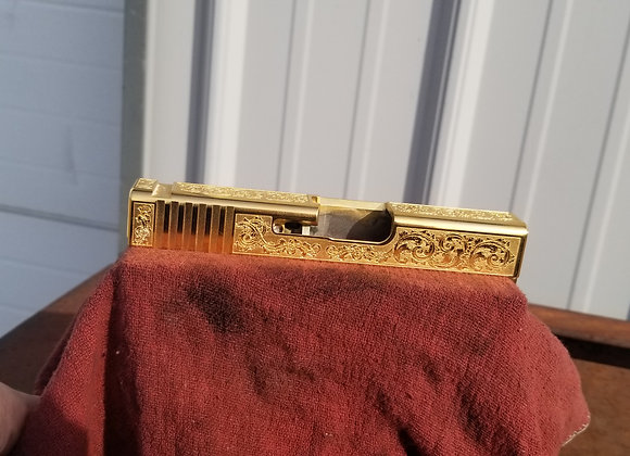 Deep Engraved and Gold Plated Slide Service